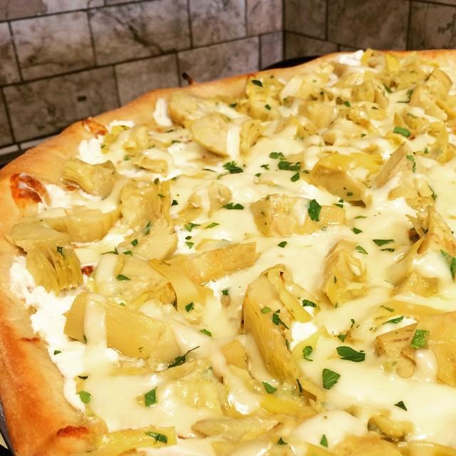 New Pie artichoke ricotta pizza mozzarella villameci glencove glenhead seacliffhellip